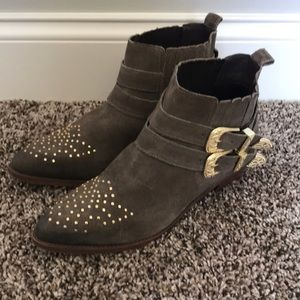 Steve Madden Nann Suede Ankle Boots Size 8